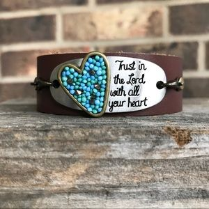 Jewelry - Faux leather cuff bracelet for her